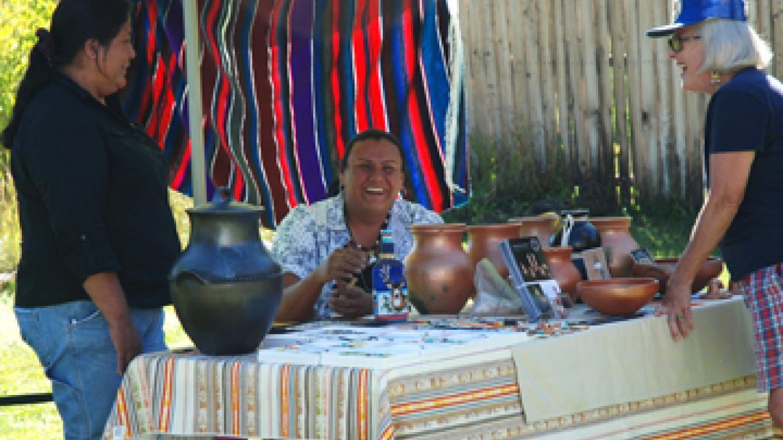 Chama Valley Studio Tour, 2010. Shelden Nunez Velarde, Jicarilla Apache artist.
