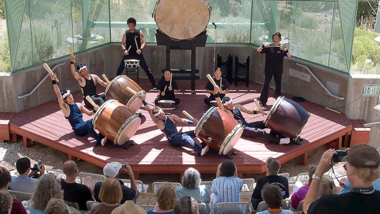 Amphitheater during Taiko (Japanese drumming) concert. – Bill Ellzey