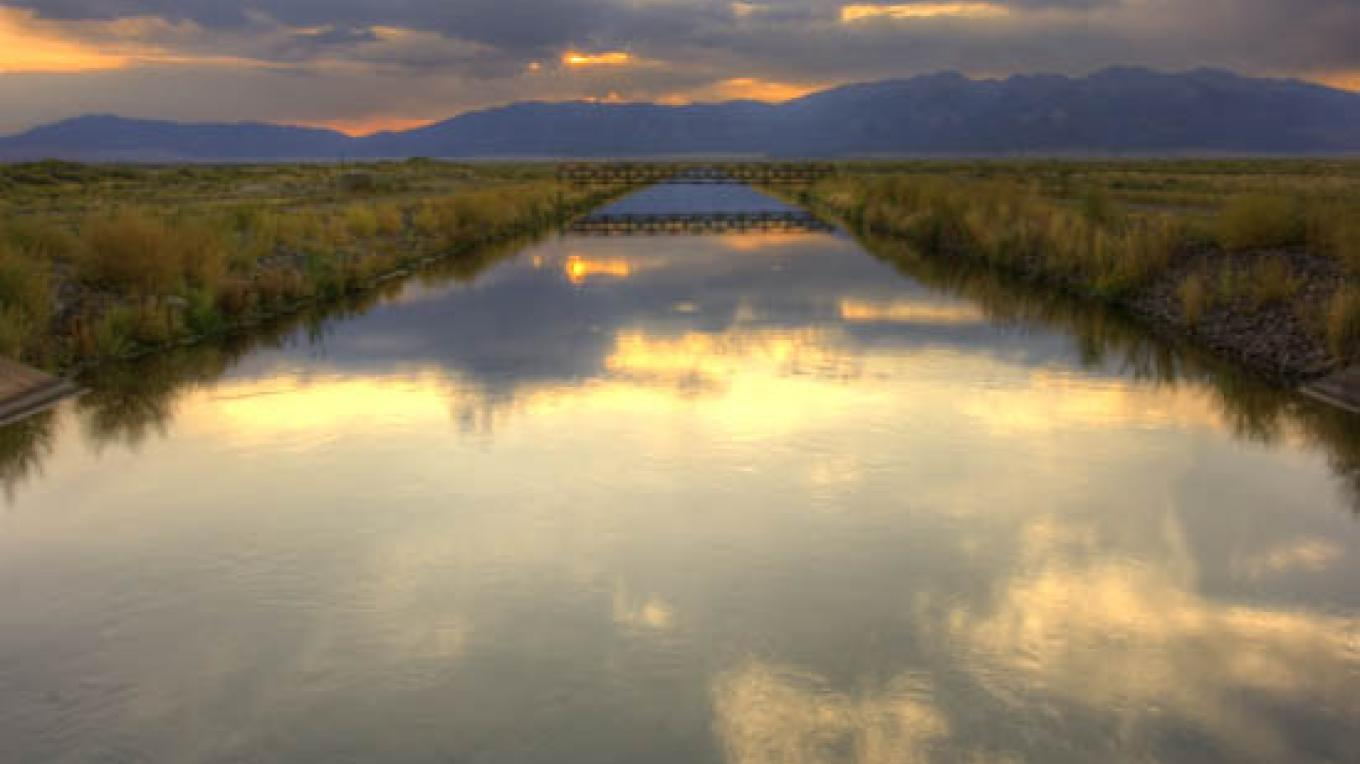 Canal in the San Luis Lakes State Park- part of the Sangre de Cristo National Heritage Area. – Cliff Hare