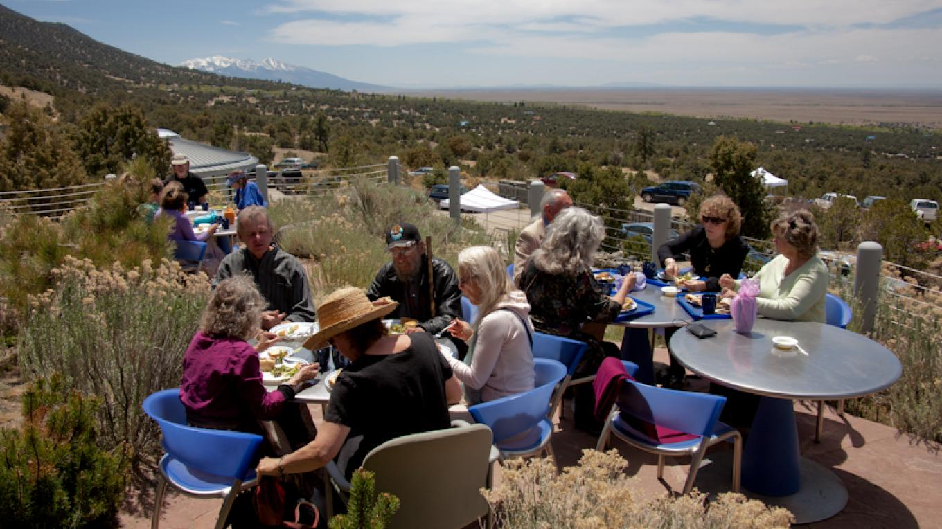 Spring Luncheon on the patio. – Staff Photographer
