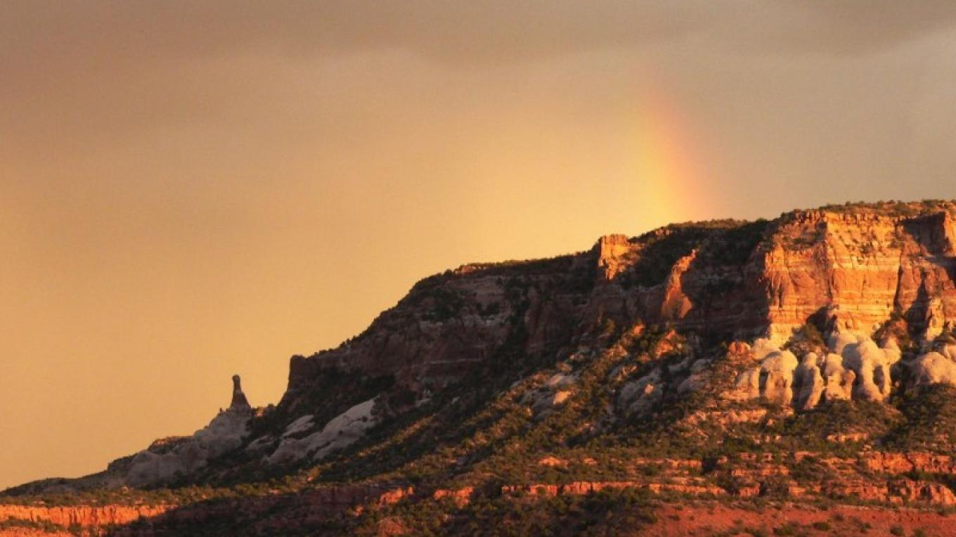 Sunset on Dow Yalanne/Corn Mesa. – Tom R. Kennedy