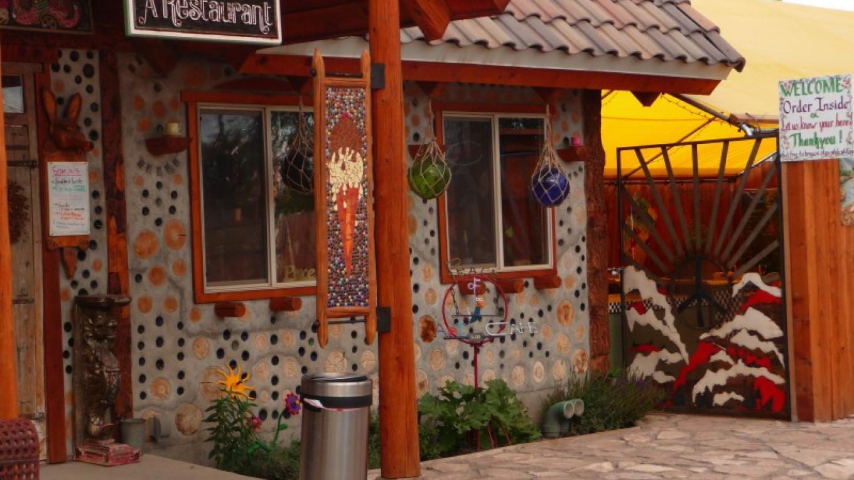 "Outside of the ""Peace of Art Cafe"" in Del Norte , Colorado – KimAnna Cellura-Shields"