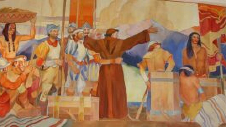 Mural -- Naming of the Sangre de Cristo Mountains by J. Noel Tucker – Kat Olance