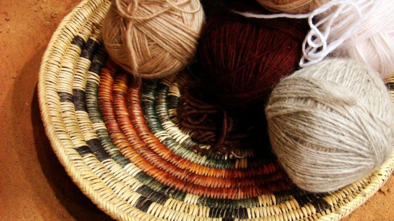Navajo Basket with hand-spun yarn – Donovan Hanley