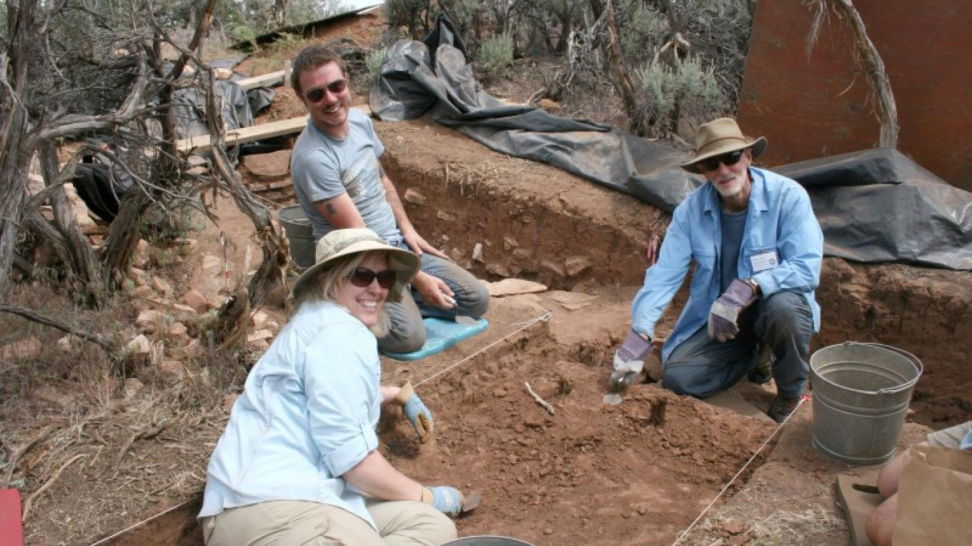Crow Canyon Archaeology Research Program participants excavate at a site near Crow Canyon and contribute to our understanding of the ancestral Pueblo Indians.