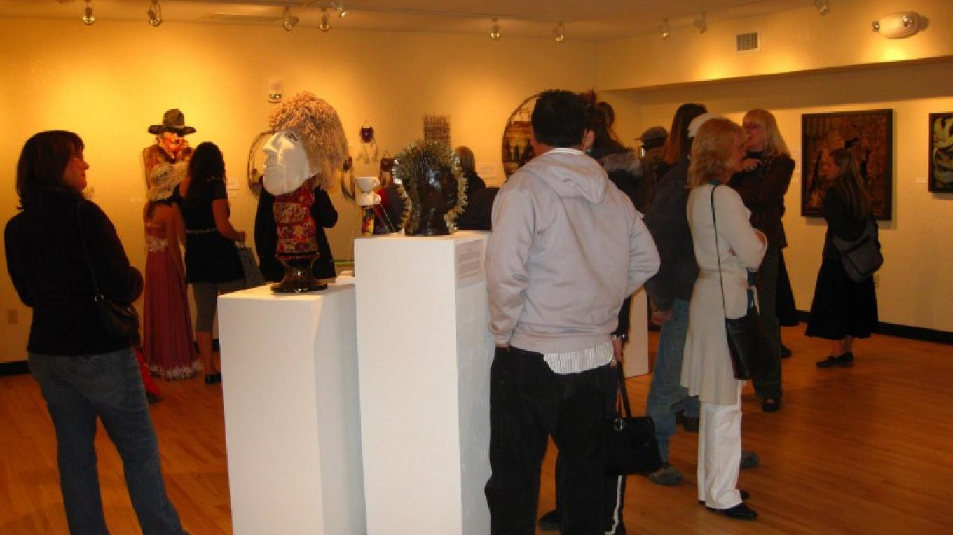 Guests enjoying the artwork – Karl Jolliff