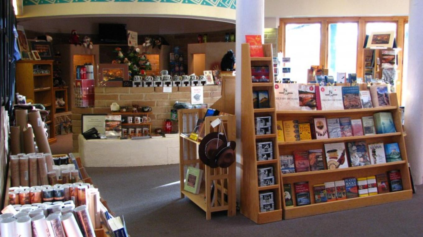 The store at the Colorado Welcome Center features something for visitors and locals alike! – Courtesy of Mesa Verde Museum Association
