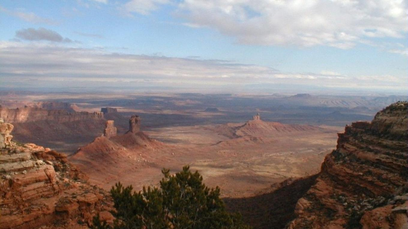 Valley of the Gods seen from Cedar Mesa above the valley. – San Juan County, Utah Visitor Services