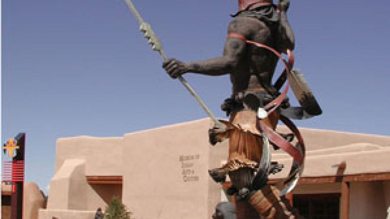 Museum of Indian Arts & Culture - sculpture by Craig Goseyun