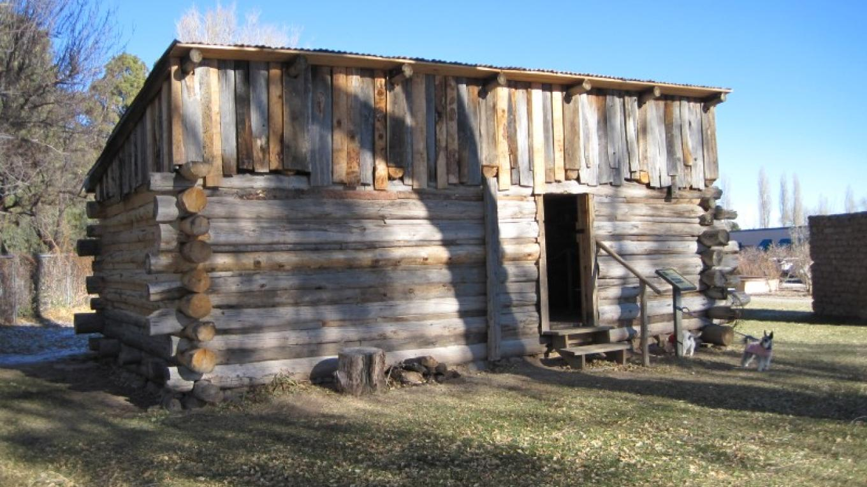Reconstructed homestead cabin of Victor Romero  (ca. 1913) – G. Strickfaden