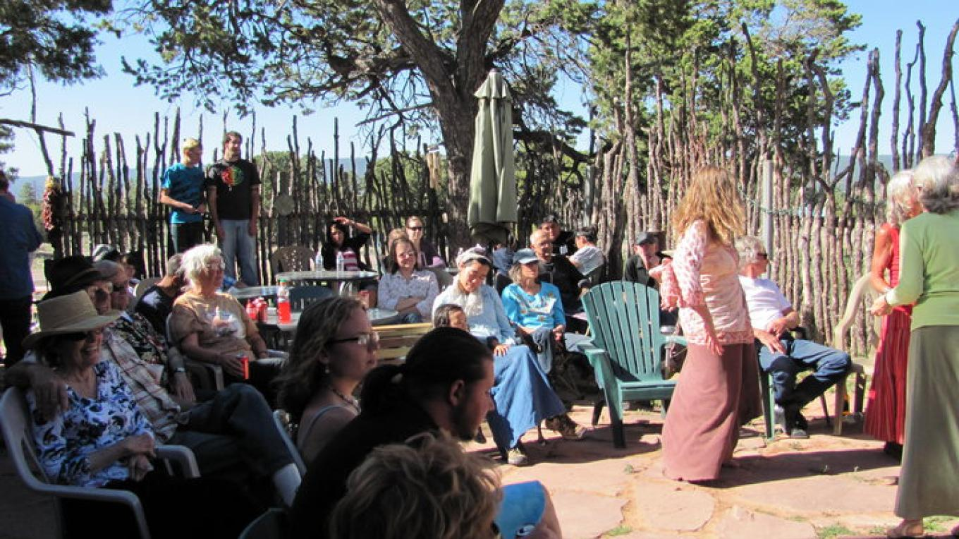 The Pickens family hosts a concert for friends and neighbors on their outdoor patio and stage at the Inscription Rock Trading & Coffee Co. – Pickens