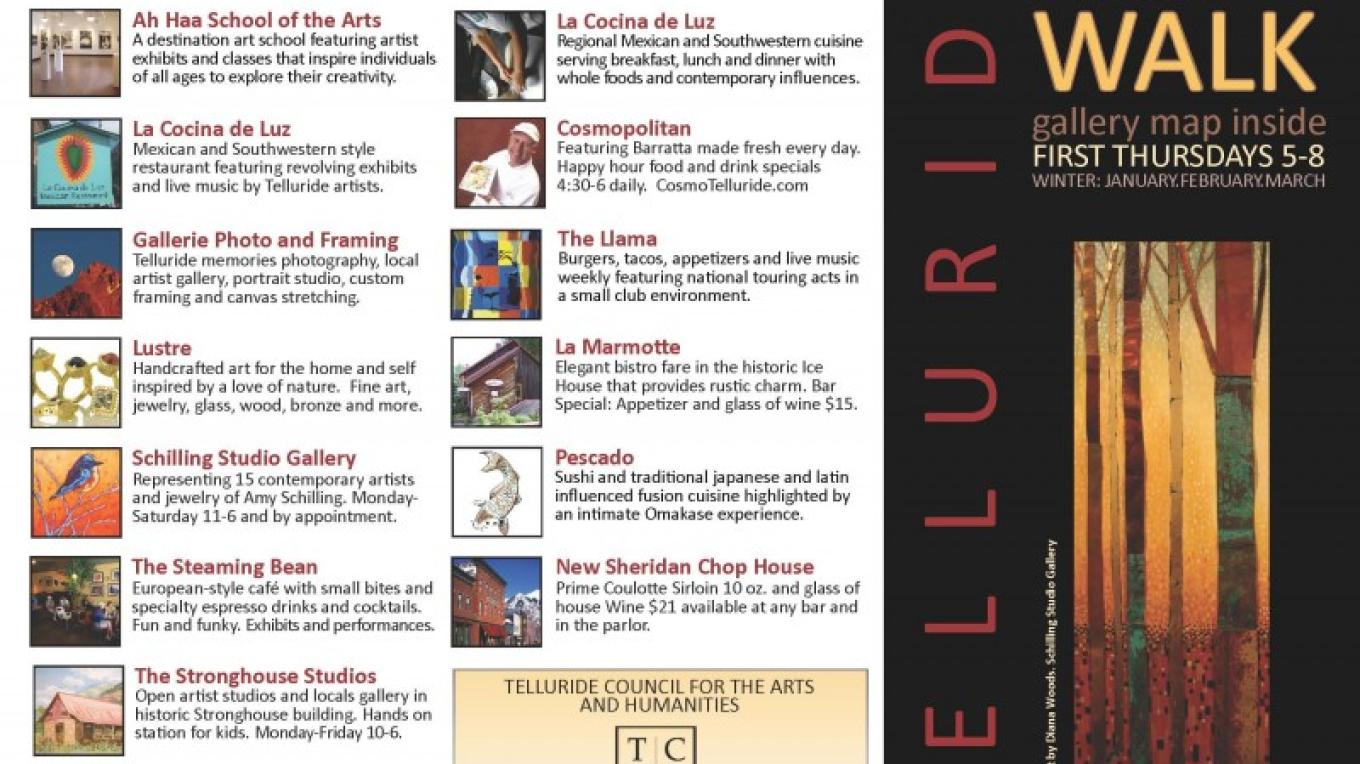 Art Walk Brochure front