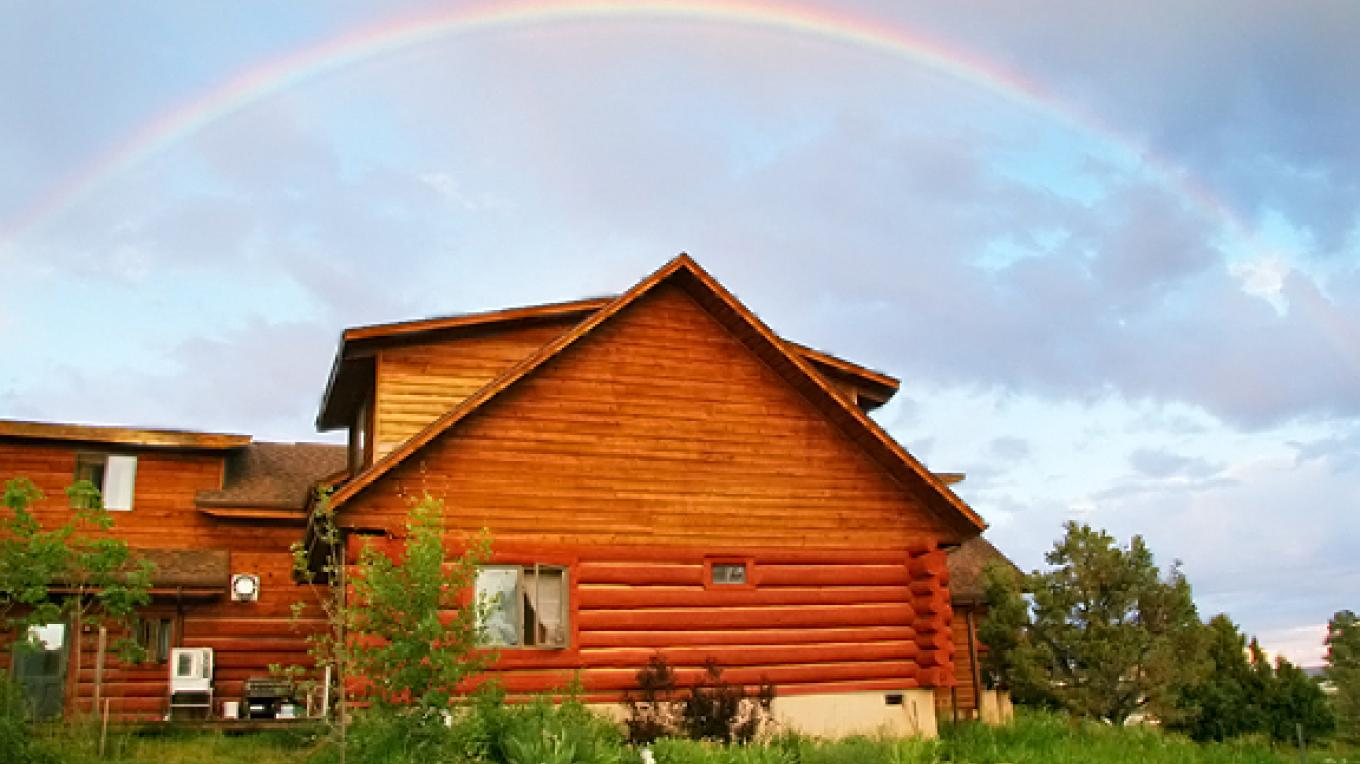 Rainbow over the Sophia Peace Center – Meira Leonard