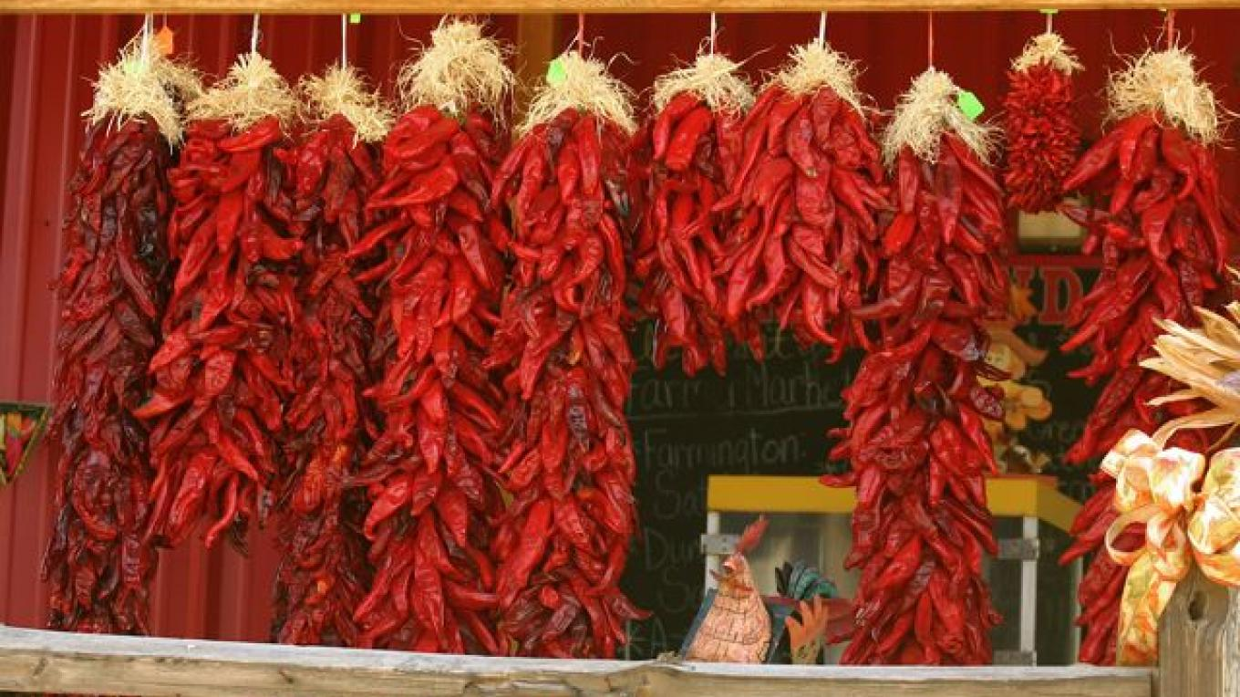 Chile Ristras in the Fall – Allen Sutherland