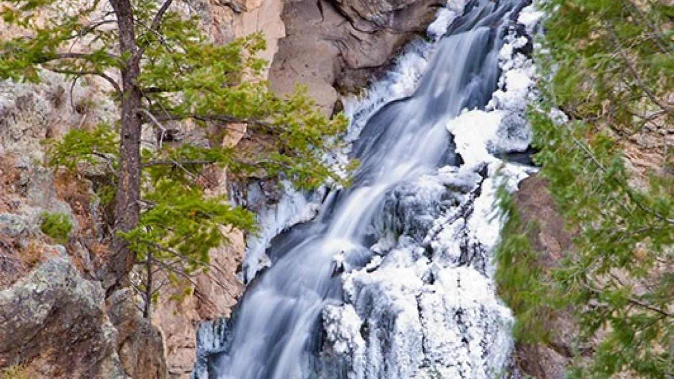 Jemez Falls in winter – Theodore Greer