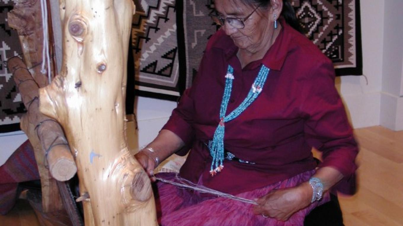 Navajo weaver at the Center of SW Studies. – Center of SW Studies