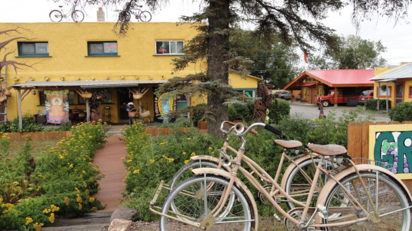 """The """"Organic Peddler"""" is an Organic Grocery store. The """"Peace of Art Cafe"""" is located directly behind this store, you can walk from one to the other through a connecting doorway. – KimAnna Cellura-Shields"""