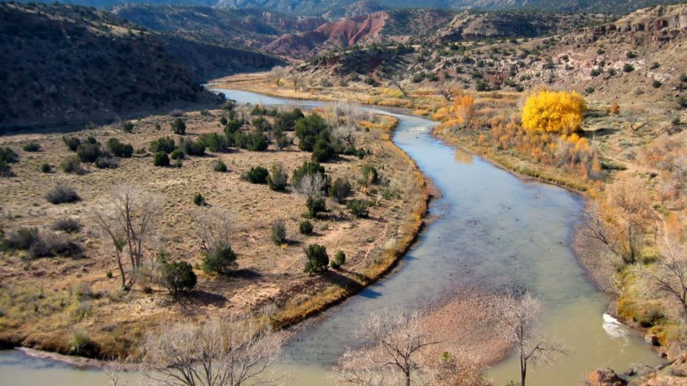 The Chama River near the Old Spanish Trail – BLM