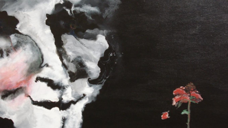"""Mes Amants""  24"" x 36"" Acrylics  framed $550.00 – Lynne Burton"