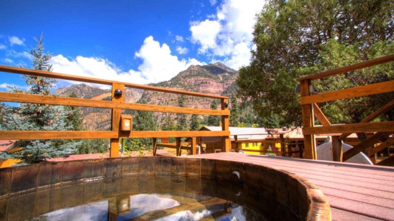 Hot Springs Tub Terraced on the Mountainside – Karen Avery