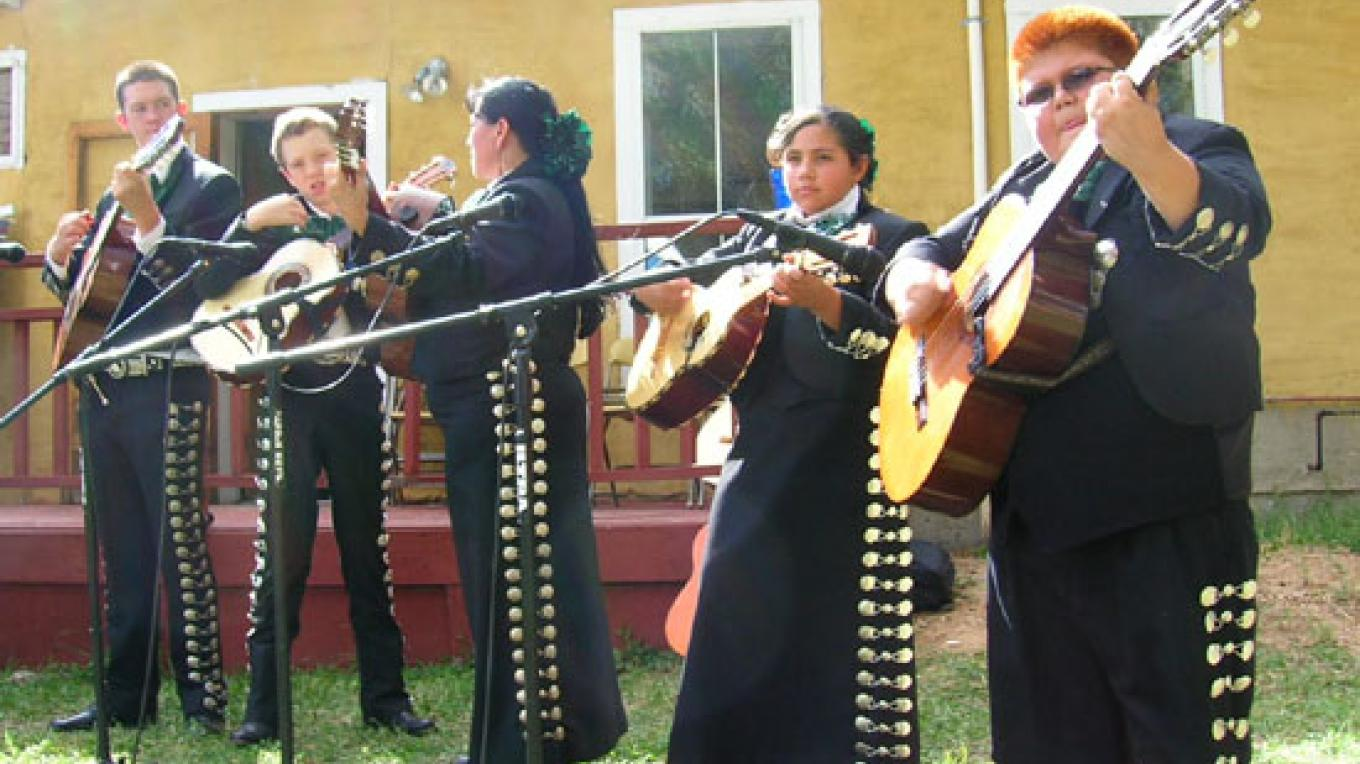 Mariachi players perform at the Sangre de Cristo National Heritage Area dedication. – Tawney Becker