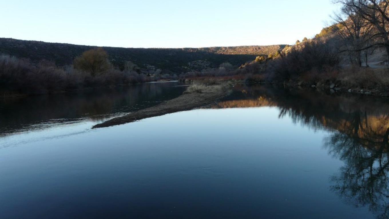 twilight on the Rio Grande--great camping nearby, great breakfast at the PYC – Georg Behrens