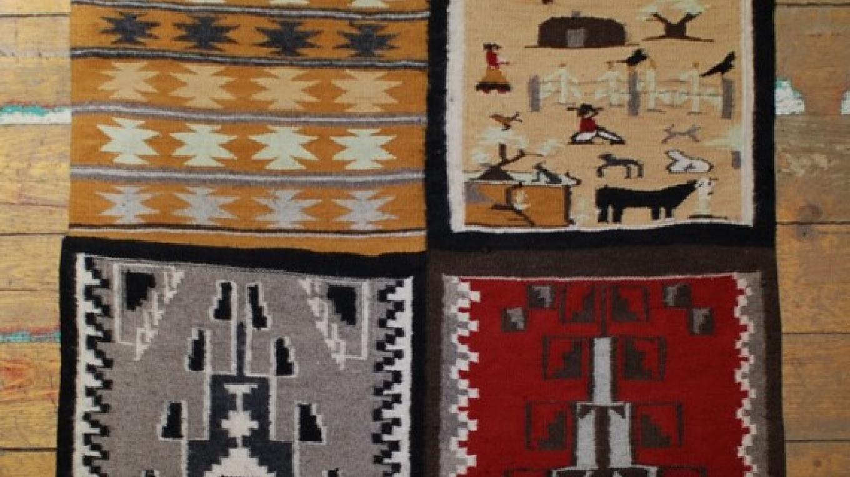 Four Panel Sample Navajo Weaving – Laura Walker