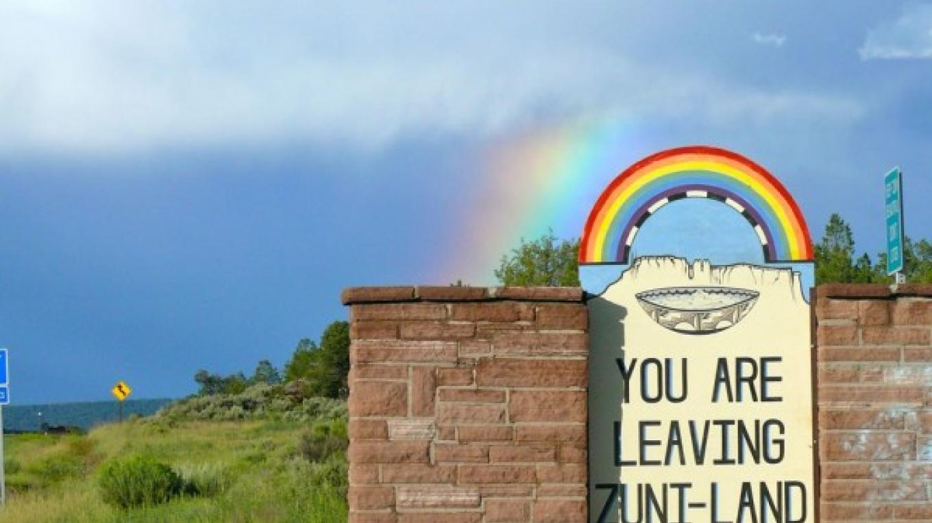 Sign leaving Zuni Rez. – Tom R. Kennedy