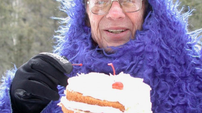 Founder John Miller (aka Cookie Monster) at Just Desserts Eat & Ski – Ellen Miller-Goins