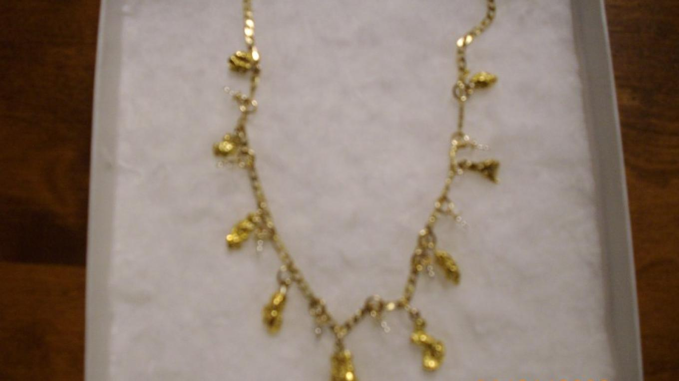 gold nugget necklace by Tiki – Tiki