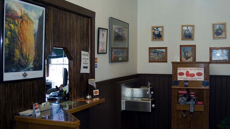 Ticket Window At The Antonito Depot – Roger Hogan