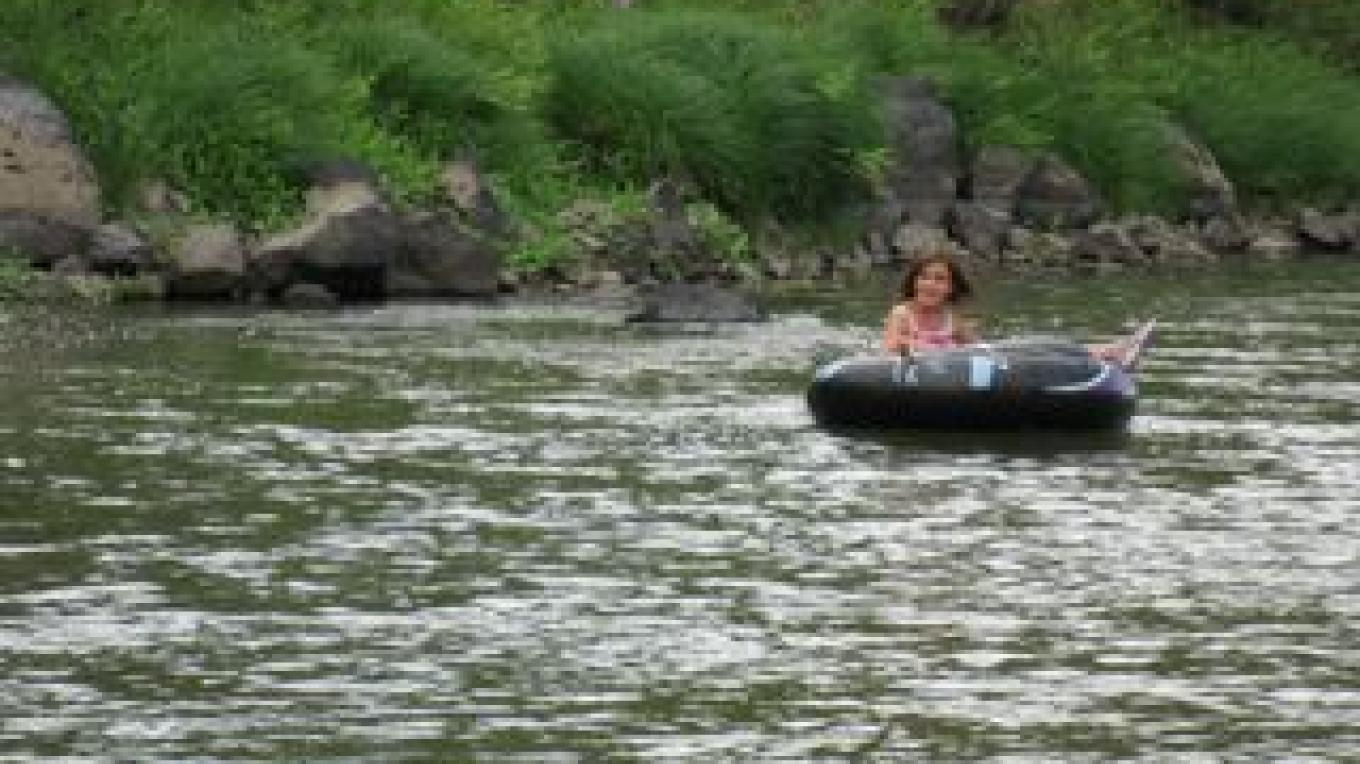 Tubing at Arroyo Hondo campground