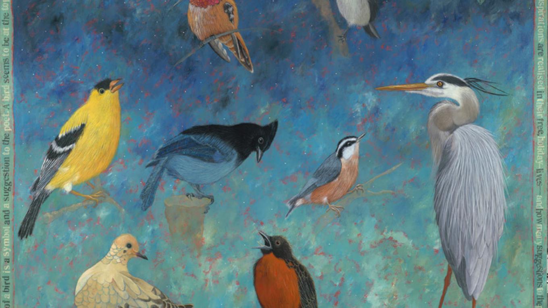 """""""Up Close""""  ©2013 Lori Faye Bock Original painting available at Waxlander Gallery on historic Canyon Road in Santa Fe. – John Baker"""
