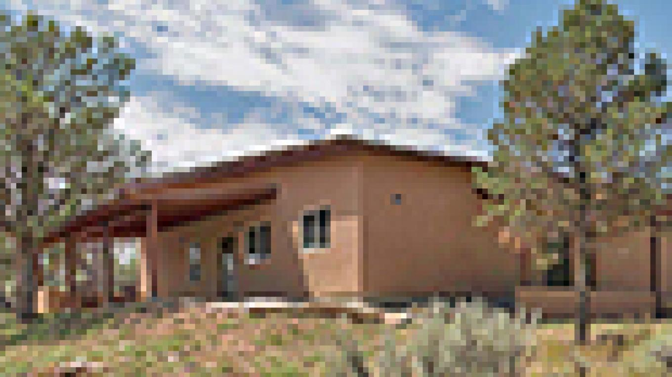 Modern cabins for students and adults. – Crow Canyon Archaeological Center