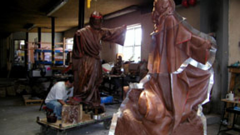 Preparing sculpture for a mold – Dana Maestas