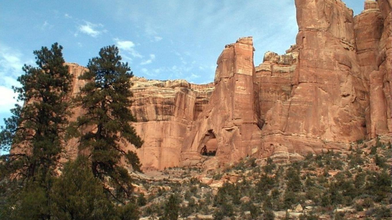 The cathedral-like arch found at the head of Arch Canyon. – S. Taylor