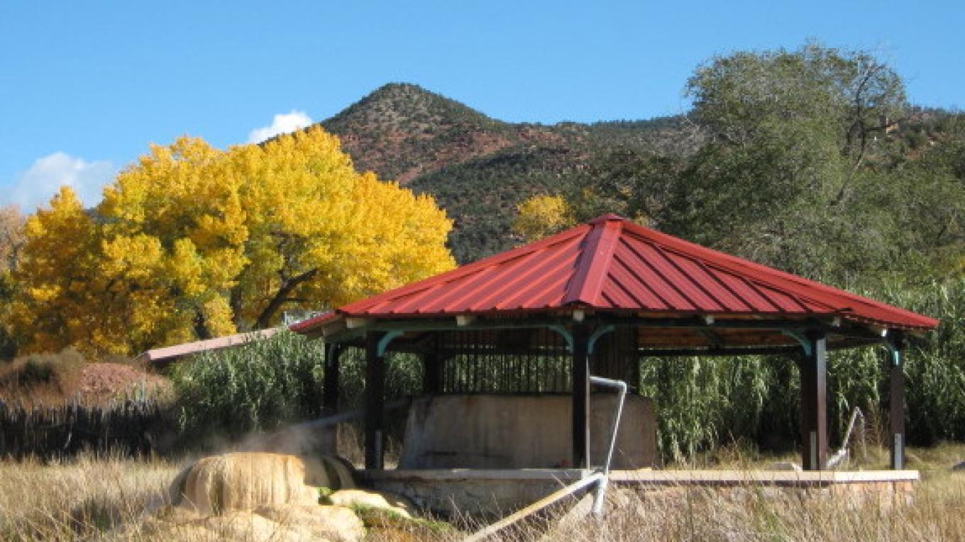 The gazebo on an early fall day. – Talty Robinson