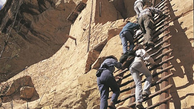 Balcony House Ladder – Courtesy of ARAMARK Mesa Verde Company