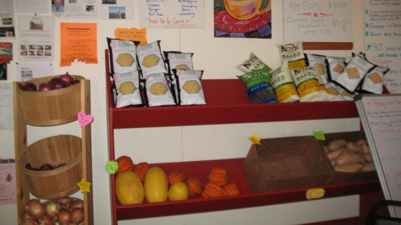 Lots  of yummy, organic stuff to take home as well as their great menu items. – M. Diane Bairstow