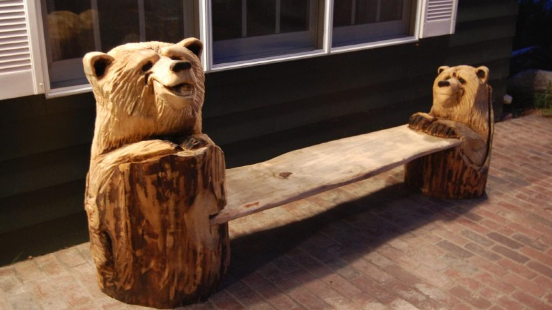 Goofy bear bench – Ken G Braun Jr