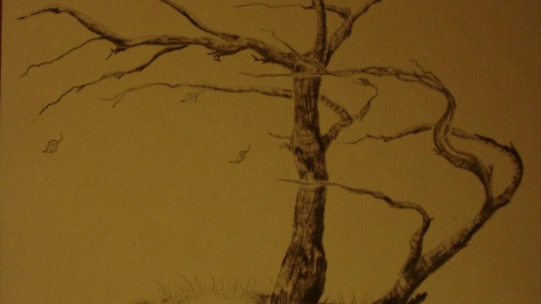"""Slan, Slan...""  8"" x 10"" Pencil   print   framed $75.00 – Lynne Burton"
