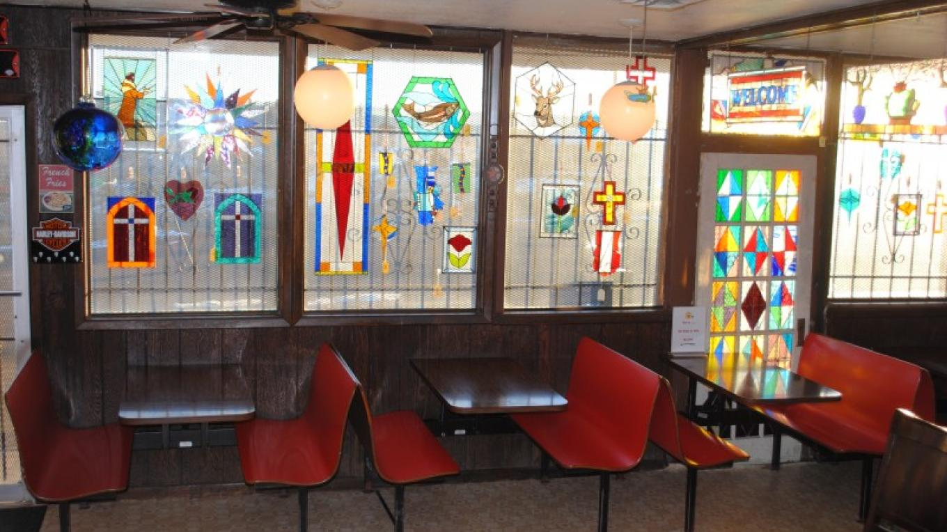 Some of the stained-glass art for sale – Jake LaFore