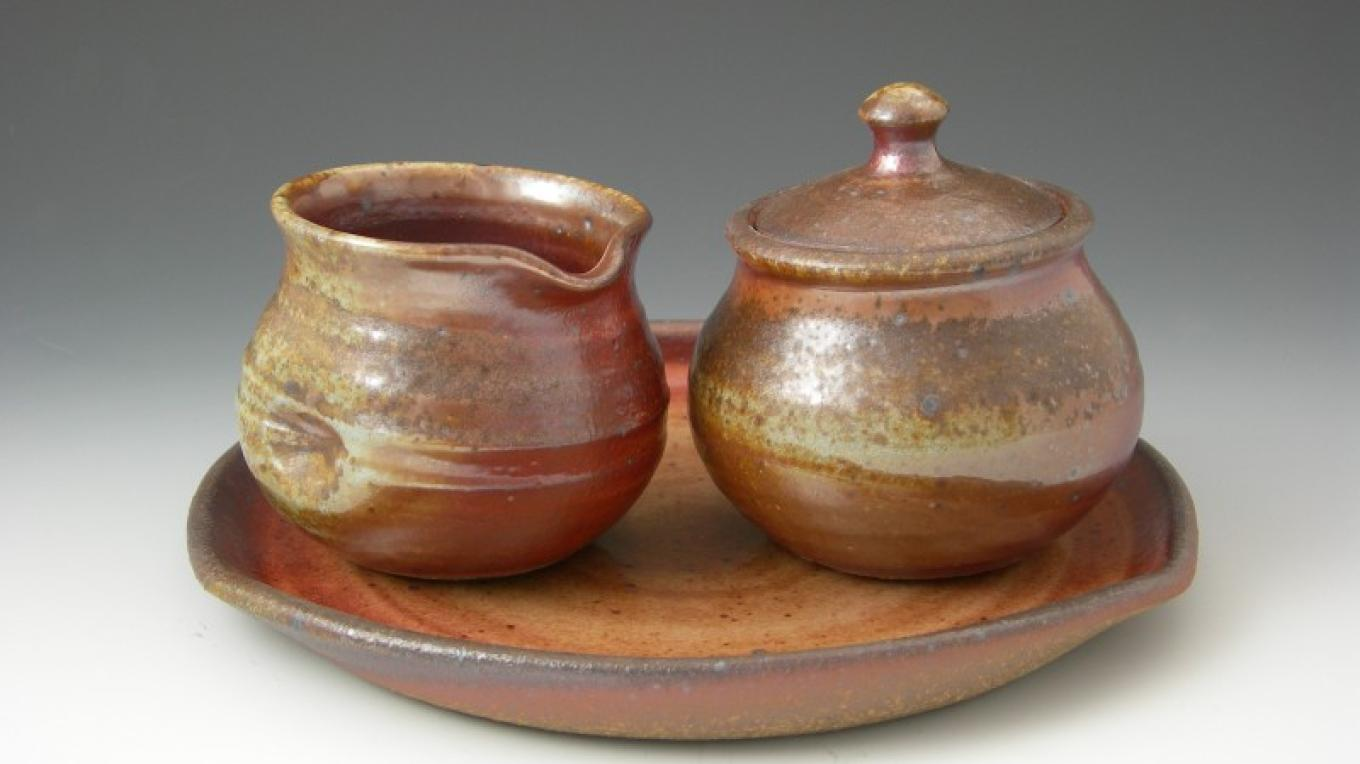 Stoneware Cream and Sugar Set – Miya Endo