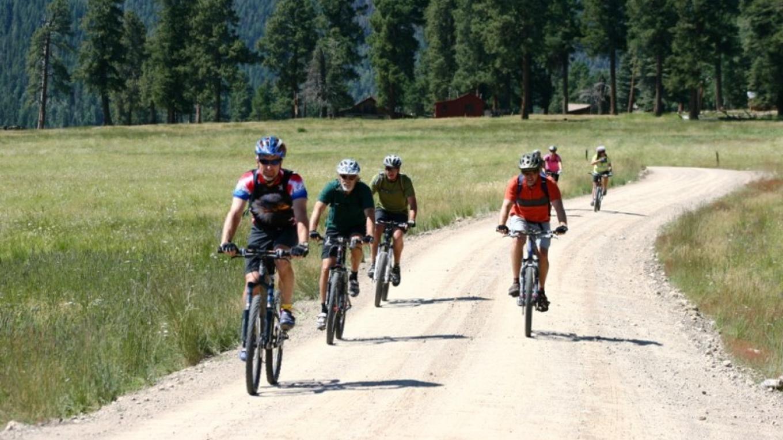 Riders leaving History Grove. – Rourke McDermott