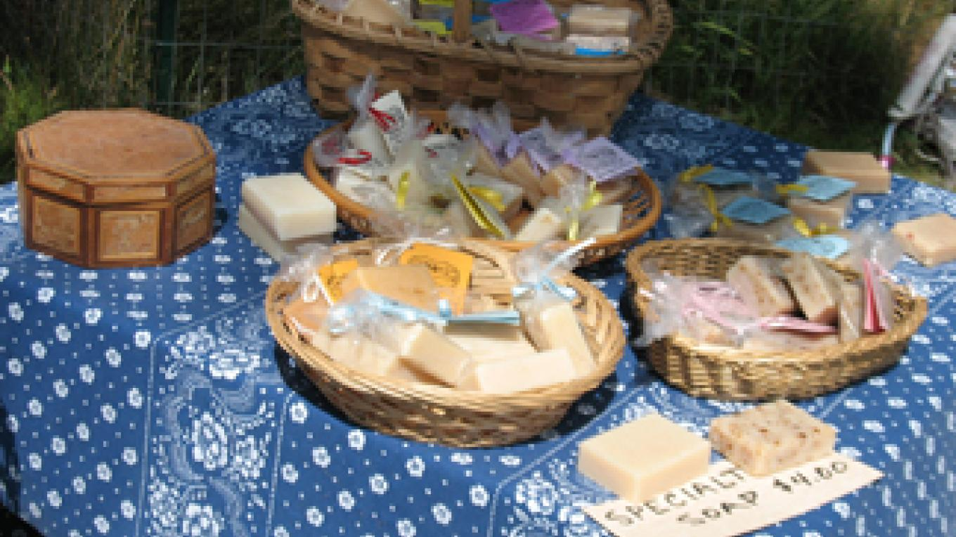 Hand made soap with goat milk and essential oils are a wonderful buy for yourself and for gift giving. – M. Diane Bairstow