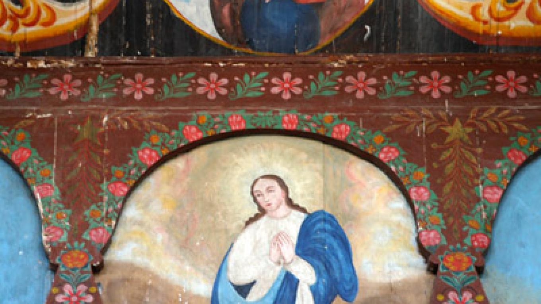 Main retablo detail. – Richard L. Rieckenberg