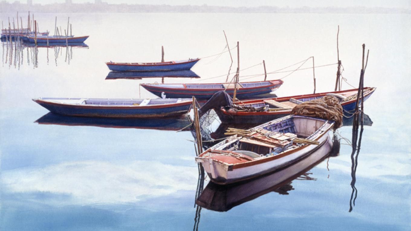 Boats at Rest, Chioggia by James Asher
