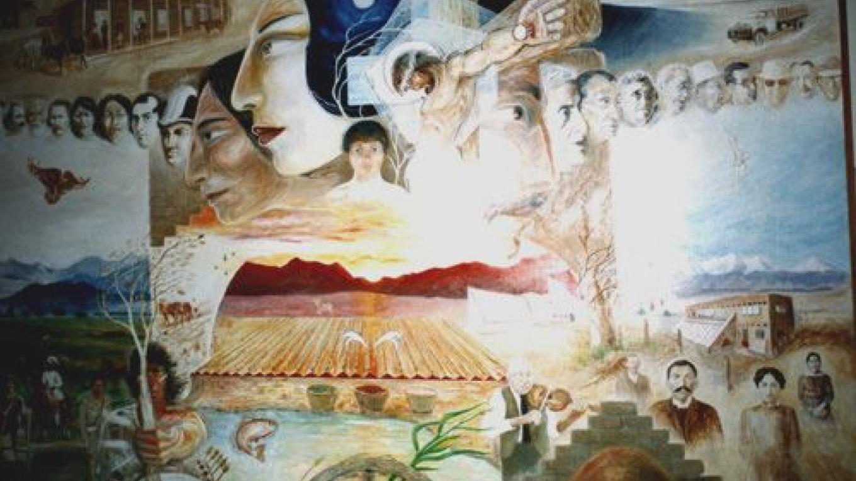 San Luis de la Culebra Mural by Carlos Sandoval, 1981 – San Luis Museum and Cultural Center