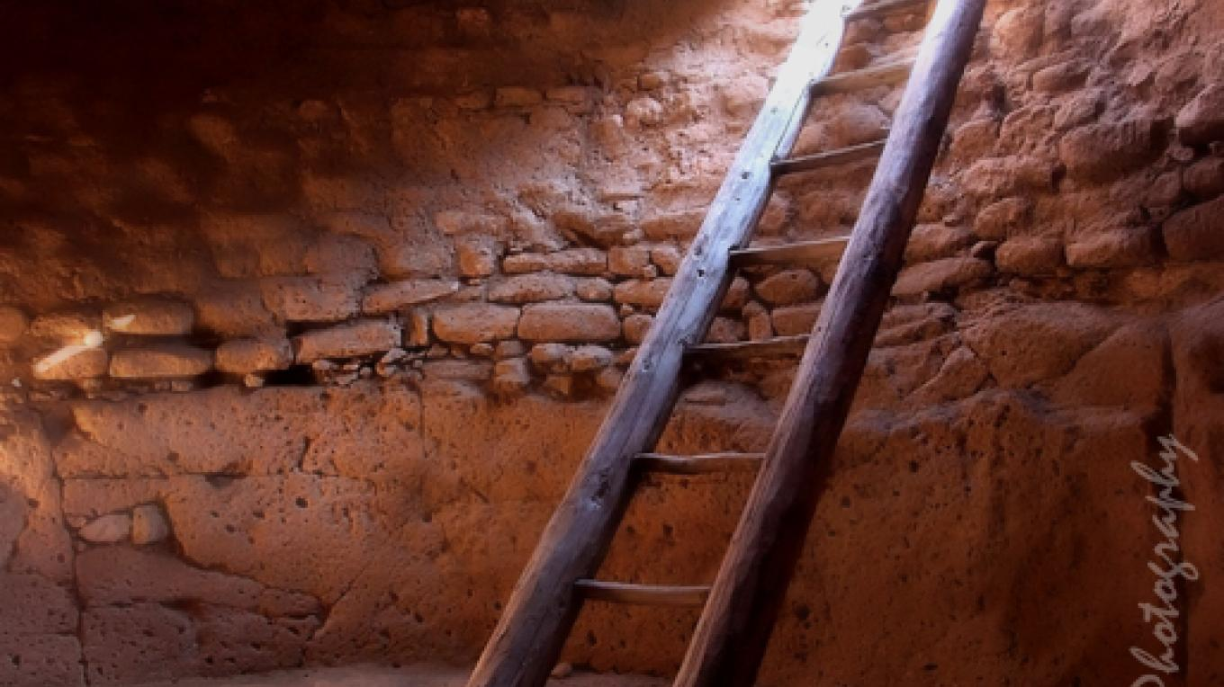 Sacred kiva in the Mesa top village. – Lu Ann Jackson