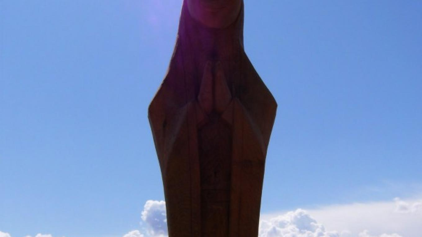 September 18, 2008 installation of the Mother Mary Statue. – Susan Sanderford